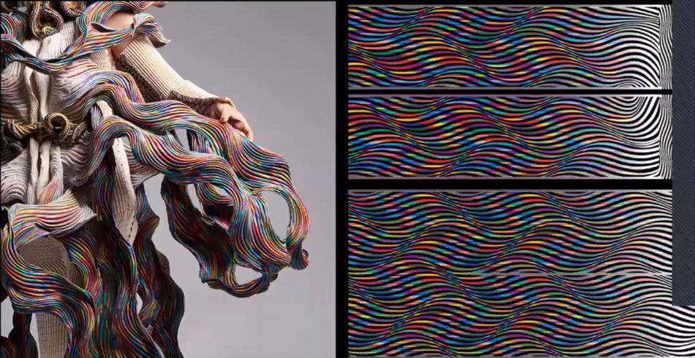 バイオスモッキングで制作したファッション