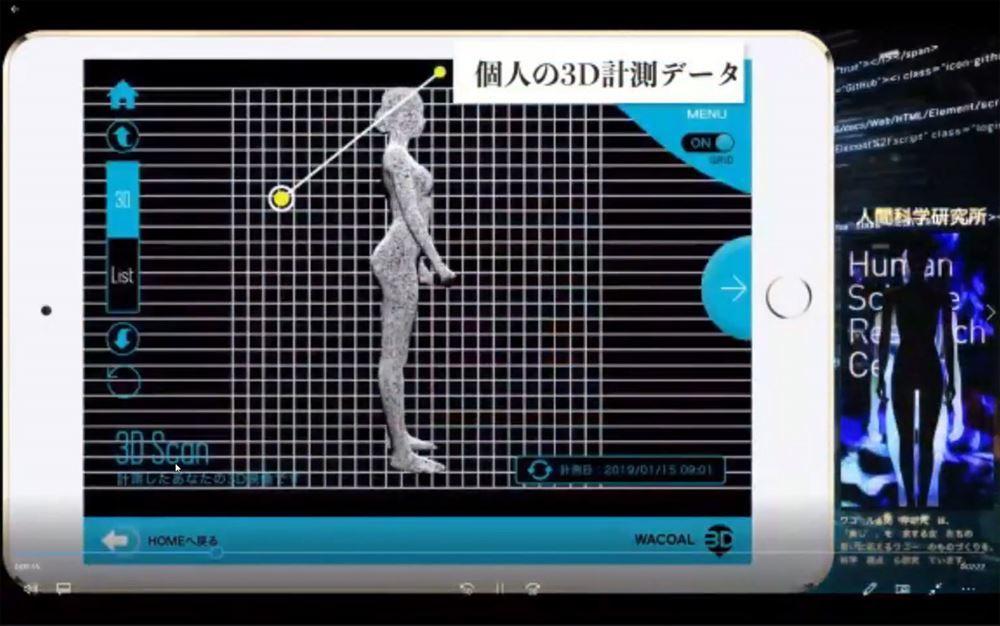 短時間のスキャンで詳細な3Dボディデータが得られる