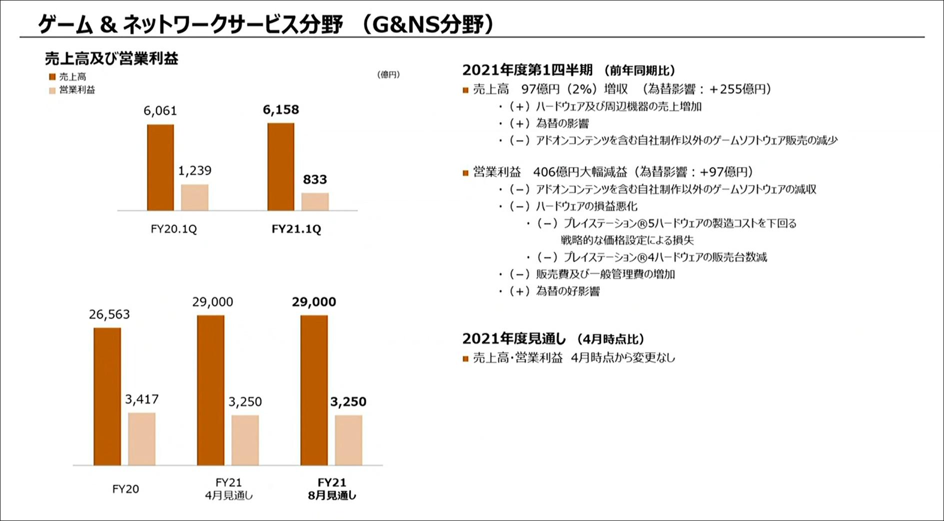 ゲーム&ネットワークサービス分野(G&NS分野)