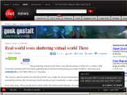 Real-world woes shuttering virtual world There | Geek Gestalt - CNET News