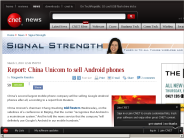 Report: China Unicom to sell Android phones | Signal Strength - CNET News