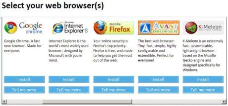 「Avant Browser」や「K-Meleon」について聞いたことがあるだろうか。ブラウザ選択画面に表示される、あまり知られていない7つのブラウザのうちの2つだ。