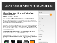 Charlie Kindel on Windows Phone Development : Different Means Better with the new Windows Phone Developer Experience