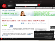 Malware found on HTC Android phone from Vodafone | InSecurity Complex - CNET News