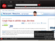 Google Maps to add bike maps, directions | Relevant Results - CNET News