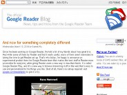 Official Google Reader Blog: ?And now for something completely different