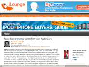Apple bans protective screen film from Apple Store | iLounge News