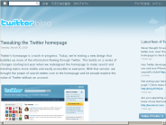 Twitter Blog: Tweaking the Twitter homepage