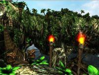 O3Dは、この島の風景のようなアクセラレートされた3Dグラフィックスの表示をブラウザで可能にする。O3Dは、一人称シューティングゲームや仮想世界のような作業向けに調整されている。