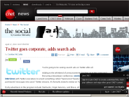 Twitter goes corporate, adds search ads | The Social - CNET News