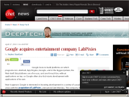 Google acquires entertainment company LabPixies | Deep Tech - CNET News