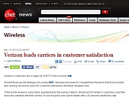 Verizon leads carriers in customer satisfaction | Wireless - CNET News