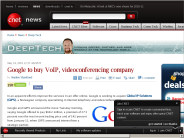 Google to buy VoIP, videoconferencing company | Deep Tech - CNET News