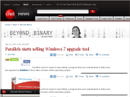 Parallels starts selling Windows 7 upgrade tool | Beyond Binary - CNET News