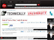 End of 'Get a Mac,' end of an era | Technically Incorrect - CNET News