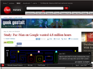 Study: Pac-Man on Google wasted 4.8 million hours | Geek Gestalt - CNET News