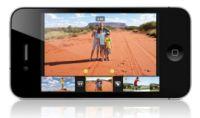 AppleのiMovieソフトウェアがiPhoneでも使用可能になる。4.99ドルで販売されるこのアプリでは、iPhoneで撮影した動画をつなぎ合わせることができる。