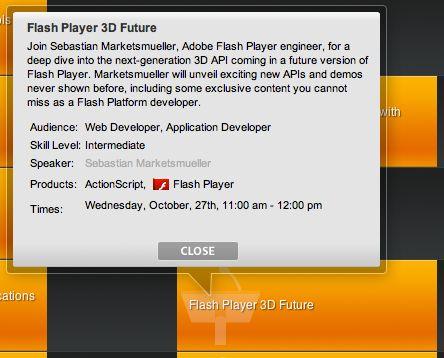 Adobeは、Flash Playerに新しく搭載される3D機能について、詳細を説明する計画だ。