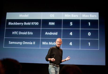 大いに注目された先週の記者会見に登場したAppleの最高経営責任者(CEO)Steve Jobs氏。同氏によると、完全な携帯電話など存在しないという。