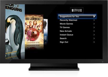 Apple TVのNetflixインターフェース。