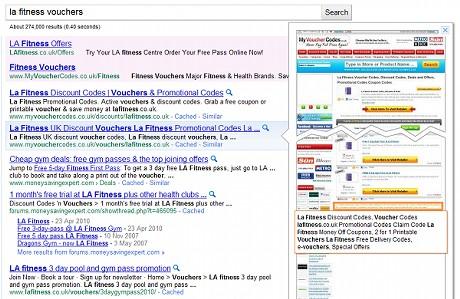 グーグルの検索結果プレビュー