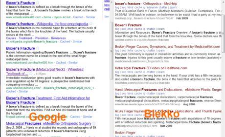 Blekkoが返す検索結果は、すがすがしいほどGoogleの結果と異なっている。Googleよりも良い結果が表示されることもあるが、そうでないときもある。