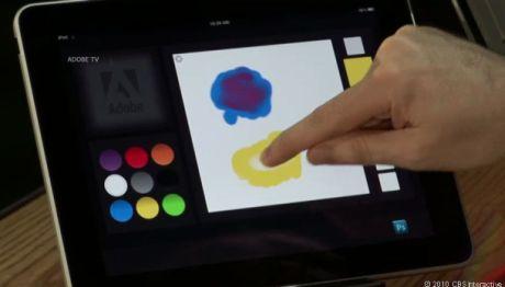 AdobeのCTOであるKevin Lynch氏は、iPadベースのカラーパレットアプリケーションを使って、色の調合と選択、ペイントのデモを行った。これはPhotoshopを実行する別のコンピュータにつながっている。