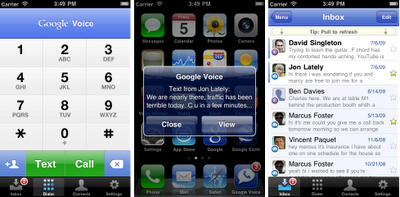 Google Voice for the iPhone