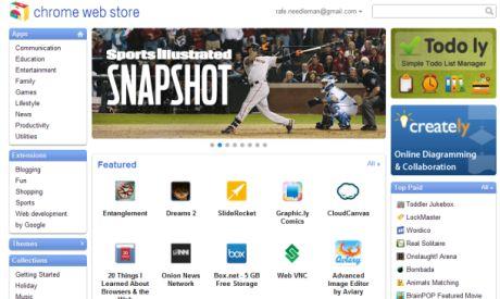 Googleの新しい「Chrome Web Store」。Appleの「App Store」に似ているが、利用条件は大きく異なる。