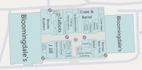 Bloomingdale'sがショッピングモールのどちら側にあるのか分かるようになった。両側にあるようだが。