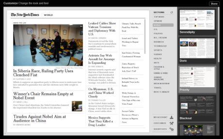 一部のデベロッパーがChrome OS版のオンラインアプリケーションを開発している。これはNew York Timesリーダーだ。外観は素晴らしいが、Cr-48では動作が遅い。