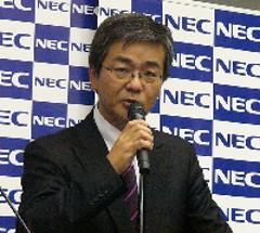 NECプラットフォームビジネスユニット支配人 赤津素康氏