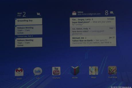 タブレットユーザーは携帯電話ユーザーよりも画面スペースを広く使える。「Honeycomb」の新機能の1つは、そのタブレットユーザー向けの直感的な通知機能だ。