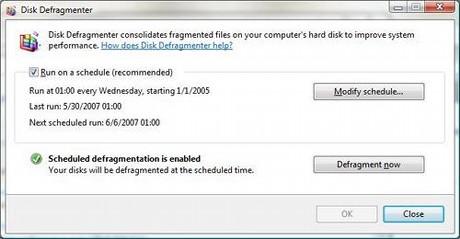 図N:ディスクのデフラグを定期的に行うことで、ディスクアクセスのパフォーマンスが向上する