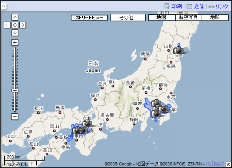 google map 日本 版