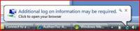 Windows 7でポップアップ表示される警告