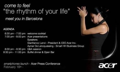 Acerプレスイベントの招待状