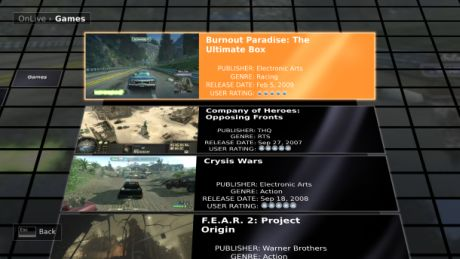 OnLiveは、Game Developers Conference(GDC)で新テクノロジと、それに合わせてローンチ予定の最初のゲーム16タイトルを紹介する。