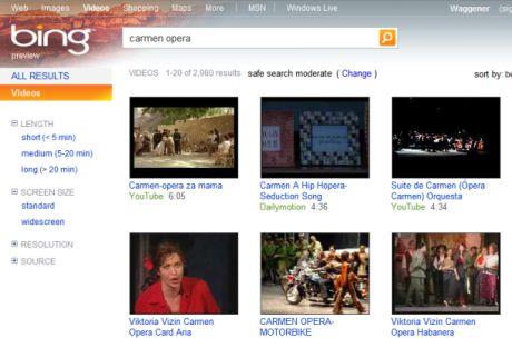 「YouTube」の検索ではGoogleよりBingの方が優れている。