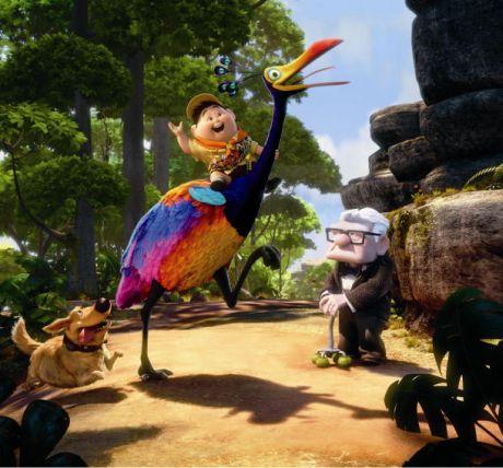 さらなる課題には、この映画の主要なキャラクターであるケビンという鳥の羽をどうアニメーション化するかがあった。