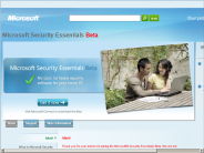 Microsoft Security Essentials Beta Home