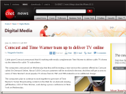 Comcast and Time Warner team up to deliver TV online | Digital Media - CNET News