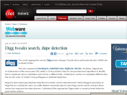 Digg tweaks search, dupe detection | Webware - CNET