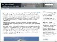 ms datacenters : Microsoft Brings Two More Mega Data Centers Online in July