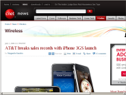 AT&T breaks sales records with iPhone 3GS launch | Wireless - CNET News