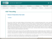 ThreatBlog ? Blog Archive ? Beware of Independence Day Scams