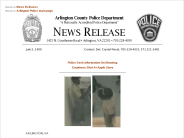 Police Seek Information on Shooting - Police Department News Release - Arlington County, Virginia