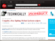 Craigslist, eBay fighting Michael Jackson scalpers | Technically Incorrect - CNET News