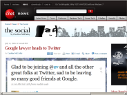 Google lawyer heads to Twitter | The Social - CNET News