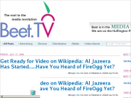 Beet.TV: Get Ready for Video on Wikipedia: Al Jazeera Has Started.....Have You Heard of FireOgg Yet?